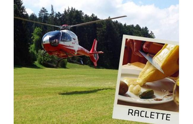 Gagnez 2 bons pour un voyage en hélicoptère avec raclette à gogo