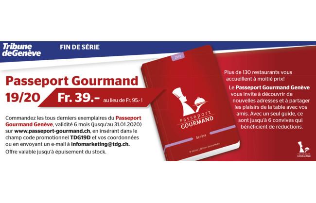 Passeport Gourmand Genève à 39.- au lieu de 95.-
