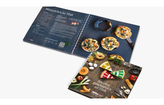 Recevez gratuitement la brochure de Recettes Gourmandes au Tilsit