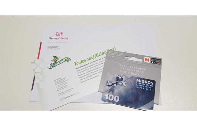 Gagnez un bon Migros d'une valeur de CHF 100.-