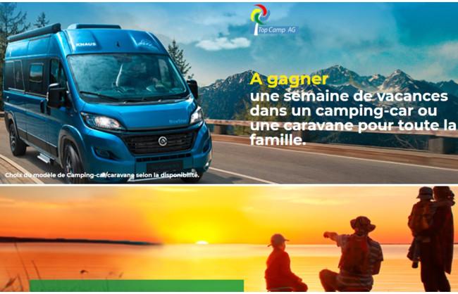 Gagnez une semaine de vacances dans un camping-car ou une caravane pour toute la famille
