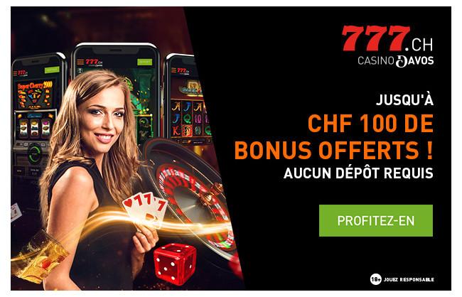 Inscrivez-vous et recevez jusqu'à CHF 100 de bonus offerts