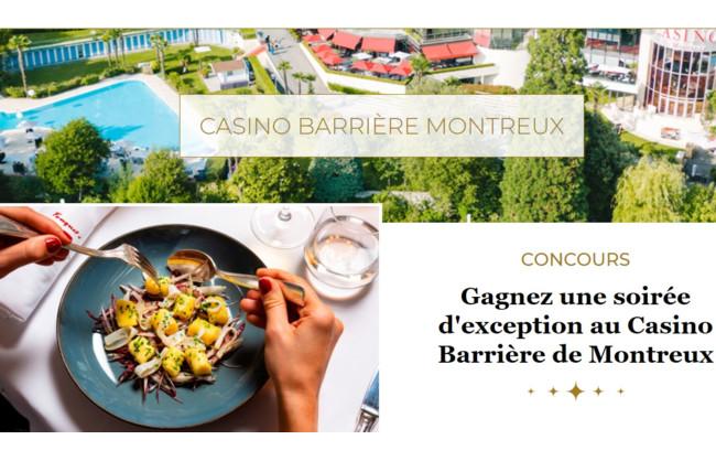 Gagnez une soirée d'exception au Casino Barrière de Montreux
