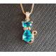 """Gagnez un ravissant collier """"Chat turquoise"""""""