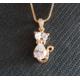 """Gagnez un collier """"Chat"""" cristal Swarovski Elements"""