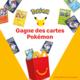 Gagnez 2 des 20 paquets de cartes Pokemon